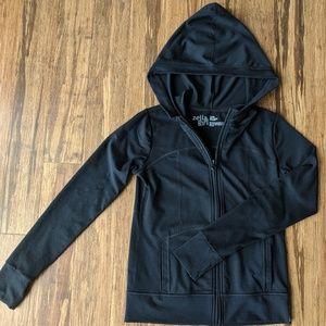 Zella Girl solid black zippered hoody